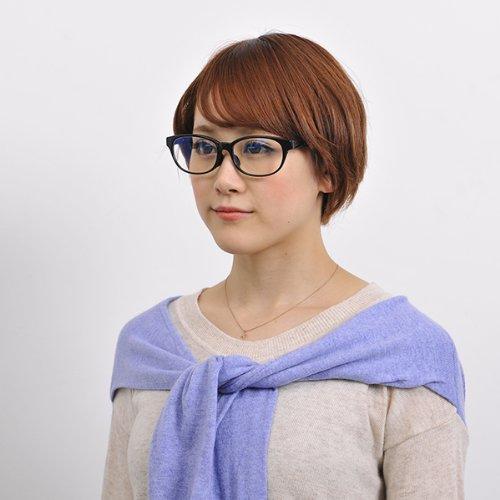 【Zoff PCクリアレンズ・パック】パソコン用メガネ PCメガネ トレンドのウエリントン(度なし)(Shiny Black)