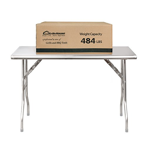 Royal Gourmet Stainless Steel Folding Work Table, 48'' L x 24'' W by Royal Gourmet (Image #3)
