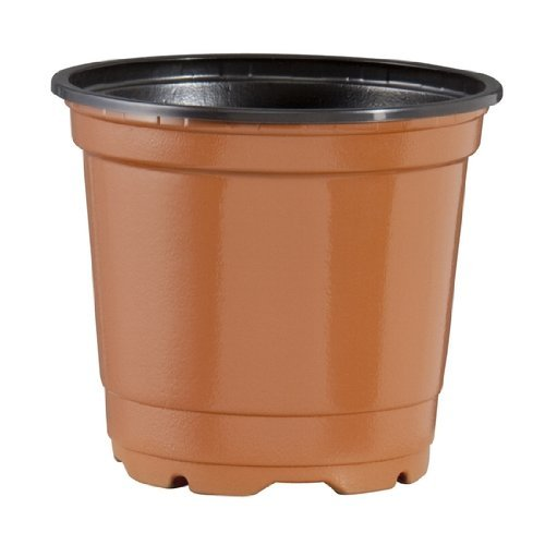 200 NEW GREEN 4 Azalea Plastic Nursery Pots ~ Pots ARE 4 Inch Round At the Top and 3.25 Inch Deep by Teku by Teku