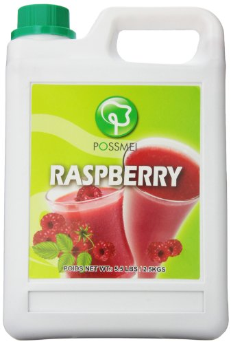 Possmei Flavored Syrup,  Raspberry, 5.5 Pound ()