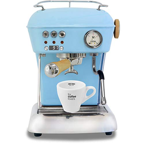 Ascaso Dream Up V3 Kid Blue PID Wood Handle Semi-Automatic Espresso Machine – w/Ascaso Cup & Saucer