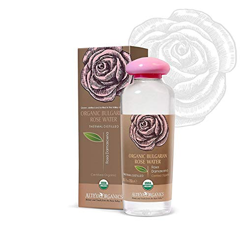 Alteya USDA Organic Bulgarian Rose Water (From New Rose Harvest) - LARGE, 250ml/8.5oz, Special Thermal-Distilled, From Our Rose Farm and Distillery