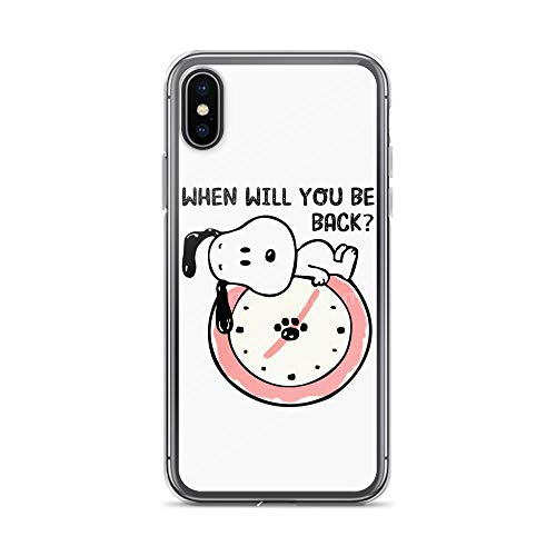 iPhone X/XS Pure Clear Case Cover When Will You Back Snoopy