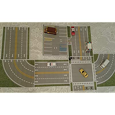 sb food ny inc. My Town Play Driving Road & Parking LOT for Hot Wheels Matchbox Track Builder: Toys & Games
