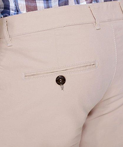 Fynch-Hatton Hombres pantalones de verano de togo plano frontal Sand Sand