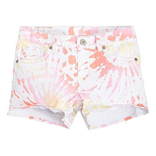 Levi's Big Girls' Best Coast Shorty Shorts, White Sunrise, 12