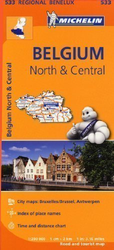 Belgium North & Central Regional Map 533 (Michelin Regional Maps) by Michelin published by Michelin maps & guides (2013)