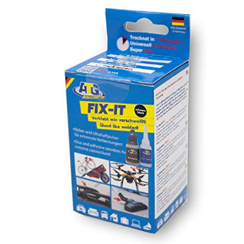 - ATG FIX-IT - The Liquid Weld - Industrial Adhesive for Home Use, Heat Resistant and Waterproof - DIY Smart Repair - Industrial Adhesive Kit with Extensive Accessories. The Industrial Adhesive, Supergl