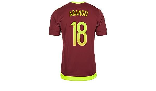 adidas Arango #18 Venezuela Camiseta 1ra Futbol 2015/2016 (US TAMAÑO) (S): Amazon.es: Deportes y aire libre