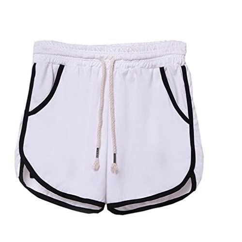 Keaac Womens High Waist Swim Shorts Drawstring Boardshorts Bathing Shorts