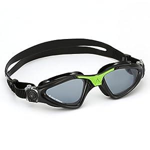 Aqua Sphere Kayenne Swim Goggle, Smoke Lens, Black/Green