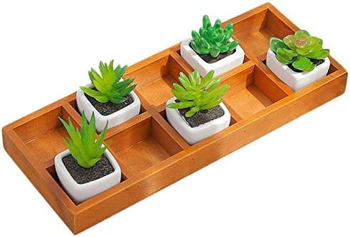 Maceta de madera – 10 macetas cuadradas rectangulares para plantas ...