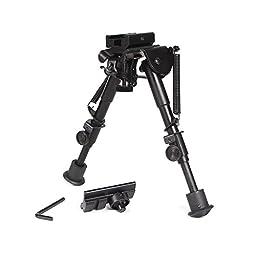 Ohuhu Adjustable Handy Spring Return Sniper Hunting Tactical Rifle Bipod, 6\