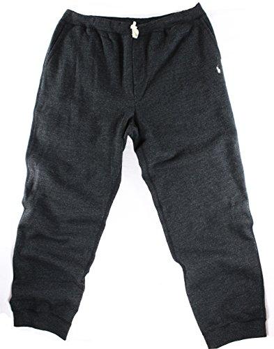 Polo Ralph Lauren Mens Big & Tall Fleece Signature Sweat Pants Gray - Shipping Ralph Lauren