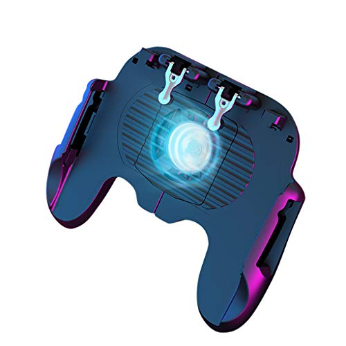 CZYCO Cooling Handle Mobile Game Controller Sensitive Shoot And Aim Joysticks Long Time Gamepad Handle For PUBG (Black)