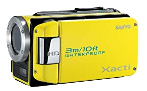 Sanyo VPC-WH1 High Definition Waterproof Flash Memory Camcorder w/ 30x Optical Zoom (Yellow) (Discontinued by Manufacturer)