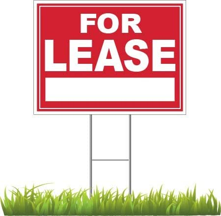 "Amazon.com : DGdirect.com for Lease Yard Sign 24"" x 18"" : Garden ..."