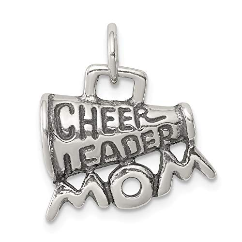 (925 Sterling Silver Cheerleader Mom Pendant Charm Necklace Sport Cheerleading Fine Jewelry Gifts For Women For)