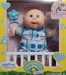 Vintage cabbage patch kids boy bald w/ outfit stuffed animal plush.