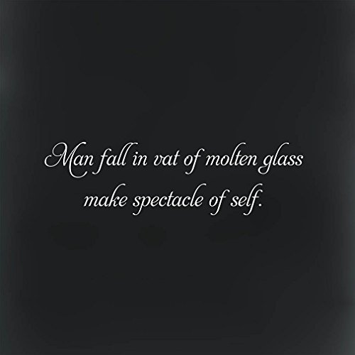 Fall Vat Molten Glass Make Spectacle Self #1 Novelty Square Metal Sign Black Background White - Square Spectacles