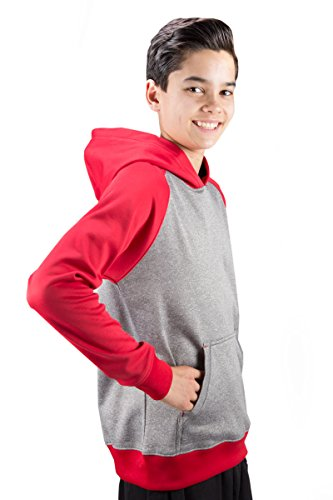 Covalent Activewear Youth Ringer Hoody with Performance Fleece and Kangaroo Front - Hood Ringer