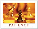 Patience Motivational Laminated Poster, Inspirational Art Print