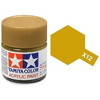 Tamiya Models X-12 Mini Acrylic Paint, 10 ml(1/3 oz), Gold