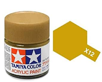Tamiya Models X-12 Mini Acrylic Paint, 10 ml(1/3 oz), Gold