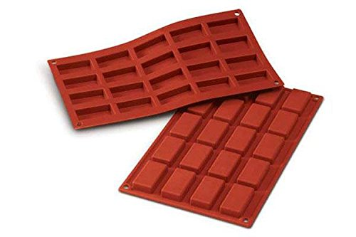 Silikomart SF025/C Silicone Classic Collection Mold Shapes, Financiers, Small