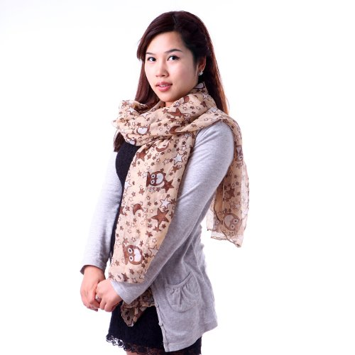 HDE Women's Print Scarf Lightweight Fun Pattern Multi-Style Fashion Shawl Wrap (Spring Fashion New 2013)