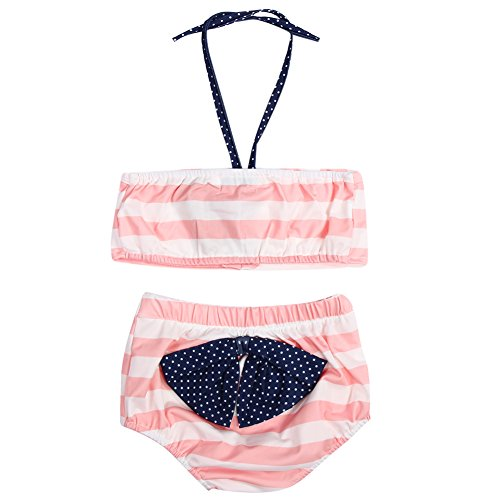Diamondo Baby Girls Summer Swimsuit Two-Pieces Sleeveless Tank Tops Short Cute Outfit -