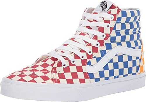 (Vans SK8-HI (Checkerboard) Multi/True White 11.5 M US Womens/ 10 M US Mens)