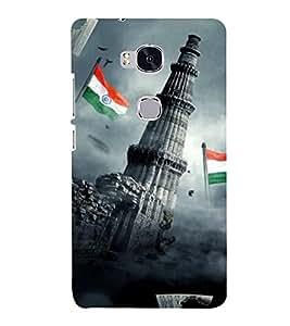 Takkloo Qutubminar ( Monument of india, Petriotic feelings, Tiranga, Flag of india) Printed Designer Back Case Cover for Huawei Honor 5X :: Huawei Honor X5 :: Huawei Honor GR5