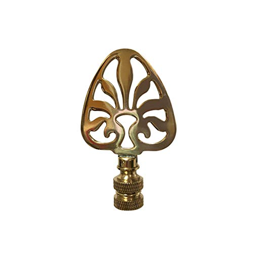 Royal Designs F-5063PB-1 Rising Sun Filigree Design Lamp Finial, Polished Brass ()