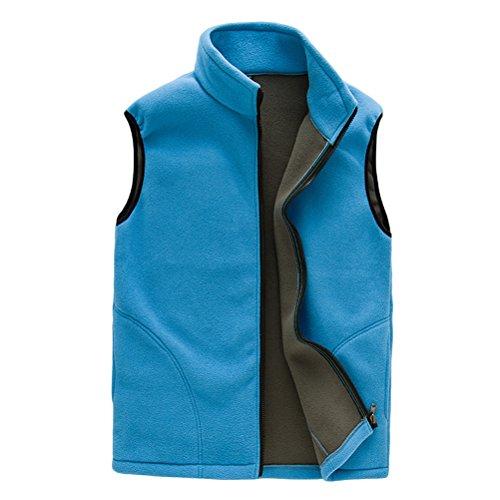 Body Gilet Womens Outwear Womens Al aire Vest Soft Warmer Unisex Lake Sports Respirable Zipper Zhhlaixing Mens libre Shell Blue Fleece FIxSq