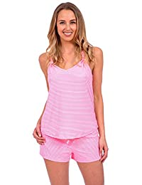 Body Candy Women's Lightweight Silky Soft Tank Top and Shorts Pajama Set