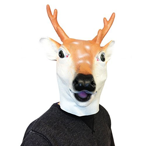 [Deluxe Latex Animal Mask Deer by Off the Wall Toys] (Deer Deluxe Latex Mask)