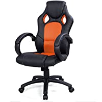 Tek Widget High Back Race Car Style Bucket Office Gaming Chair (Orange)