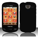 Importer520 Rubberized Snap-On Hard Skin Protector Case Cover for For (Verizon) Samsung Brightside U380 - Black