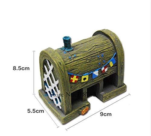 (Fish Tank Decorations - Small Aquarium Spongebob Decoration Pineapple House Squidward Easter Island Fish Tank Cartoon Decoration for Kids)