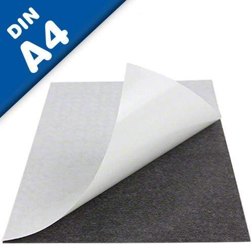 Lámina magnética autoadhesiva, en formato DIN A4-210 x 297 x 0,9mm - puedes adherir otros materiales como por ejemplo fotografías, cartulina, papel, y todo lo que te brinde tu imaginación.: Amazon.es: Hogar