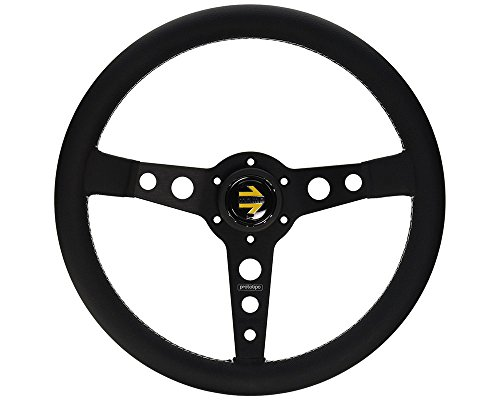 MOMO Prototipo Black 350 mm Leather Steering Wheel (Prototipo Leather)