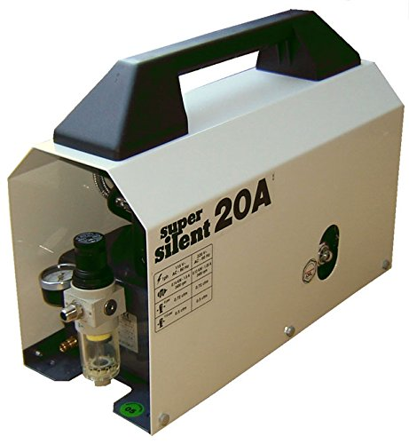 Silentaire Super Silent 20-a Whisper Quiet Airbrush Compressor 1/5hp 0.7 Cfm 55-85psi Low Noise Level