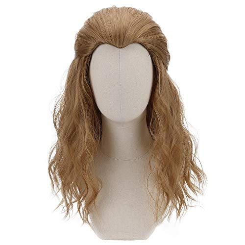 Long Blonde Cosplay Thor Wig Men Boys Synthetic Full Head Wavy Anime Hair Wigs for Party Costume Halloween]()