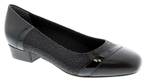 Ros Hommerson Tango 74033 Woman's Dress Shoe : Black/Lizard 9 X-Wide (2E) Slip-On