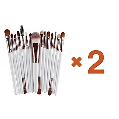 AOOK 15 Pieces Animal Makeup Brush Set Professional Face Eye Shadow Eyeliner Foundation Blush Lip Makeup Brushes Powder Liquid Cream Cosmetics Blending Brush