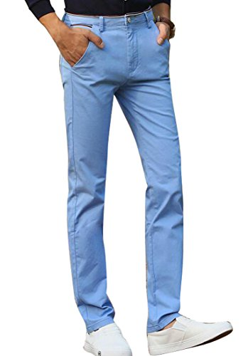 Wholesale SYTX Mens Casual Business Straight Legging Slim Fit Flat-Front Pants Trousers for sale