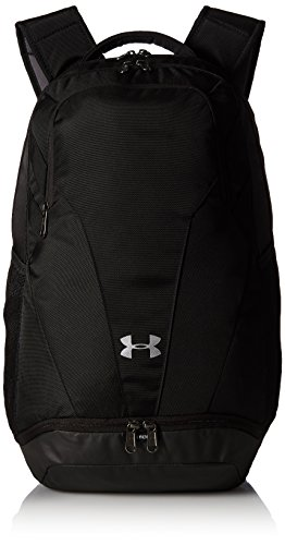 Under Armour Team Hustle 3.0 Backpack, Black (001)/Silver, One Size Fits All