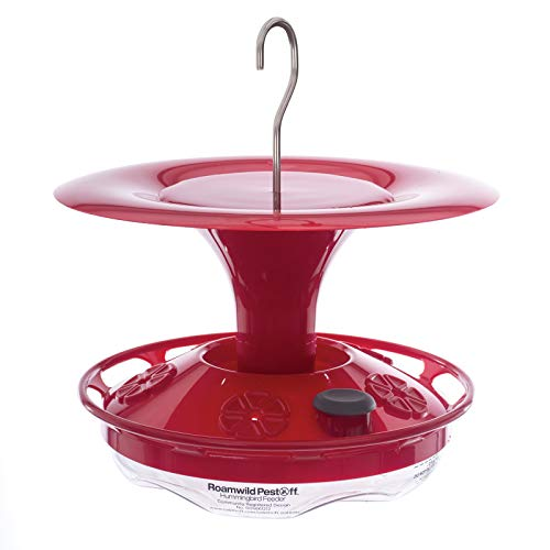 View Quick Tulip - Roamwild Hanging Hummingbird Feeder with Double Moat Guard Technology | 5 Feeding Stations with Quick Easy Filling Port | 12 fl oz Nectar Capacity