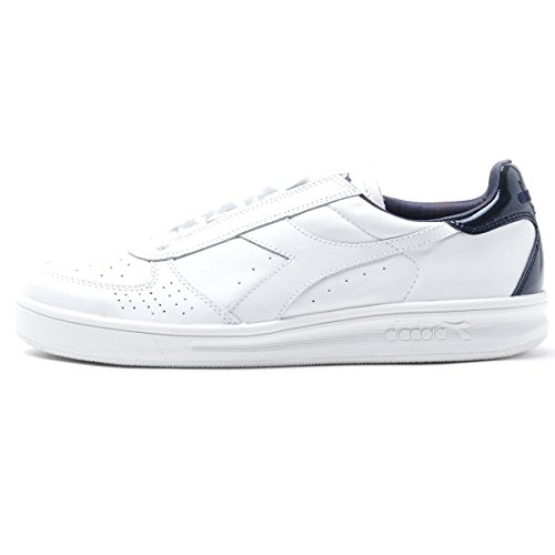 Diadora B Elite Liquid Mens White Leather Lace Up Sneakers Shoes kSxNGLf